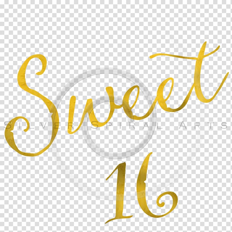 Sweet Sixteen transparent background PNG cliparts free.