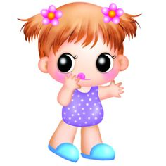 Cute Baby Girl Clipart.