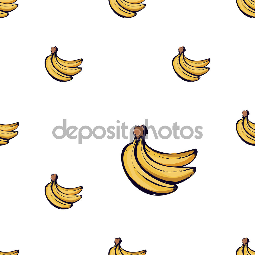 Sweet banana pattern — Stock Vector © Sopelkin #121214018.