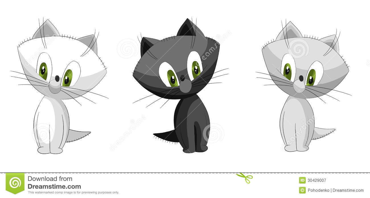 Sweet cat pictures clipart.