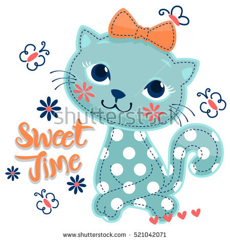 Sweet Cat Vectores, imágenes y arte vectorial en stock.
