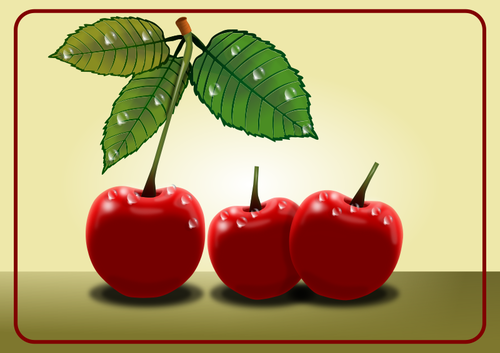 Sweet cherries vector clip art.