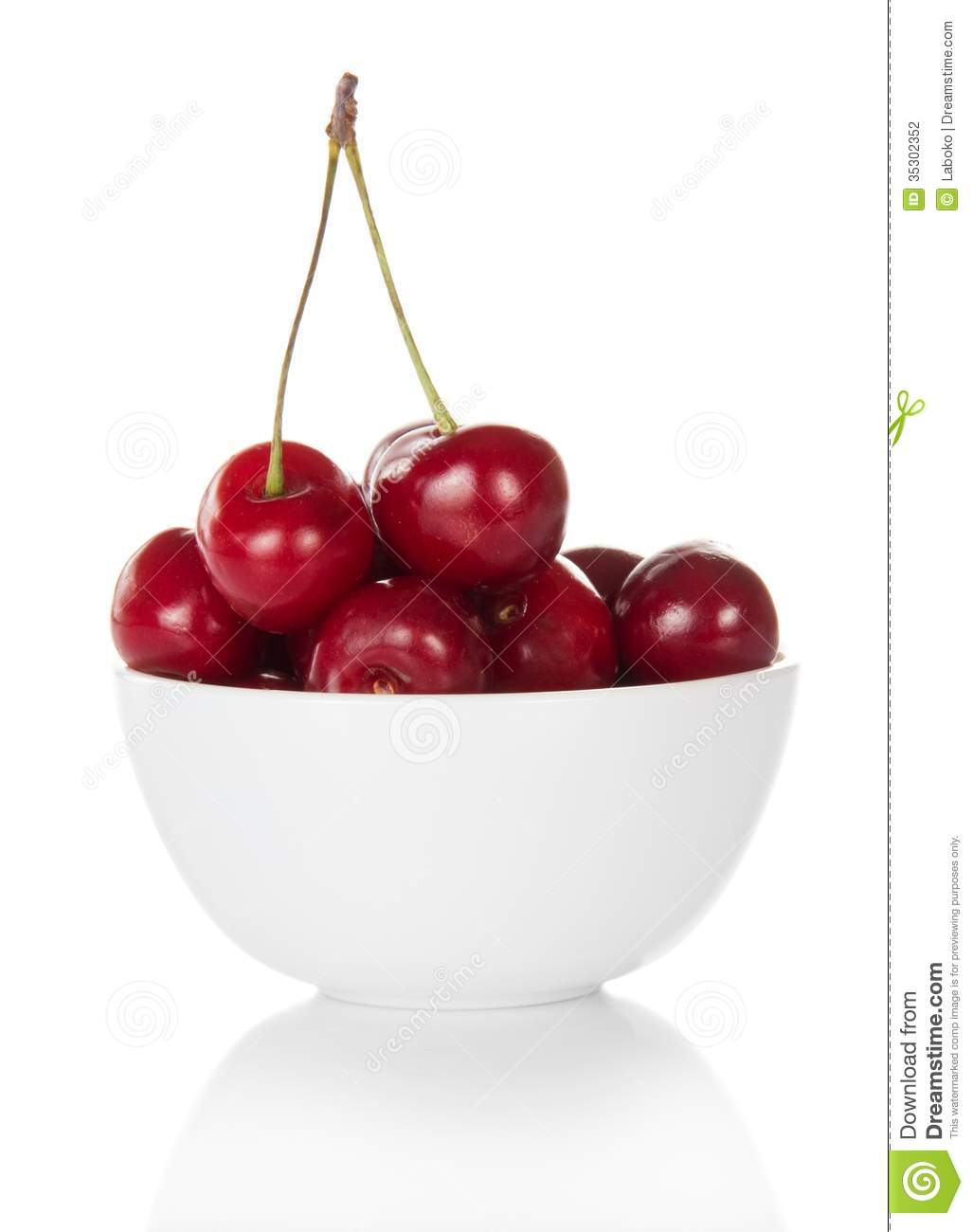 Bowl of cherries clipart.