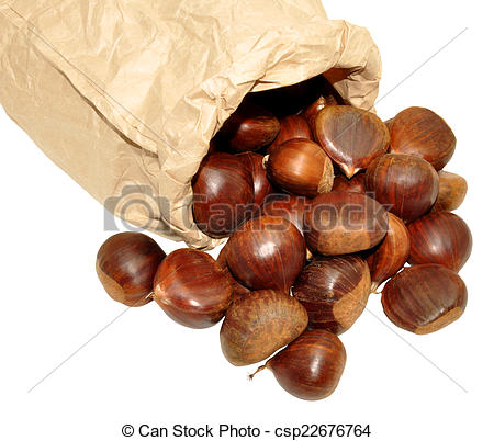 Stock Image of Sweet Chestnuts.