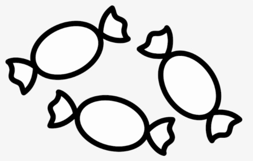 Free Candy Black And White Clip Art with No Background.