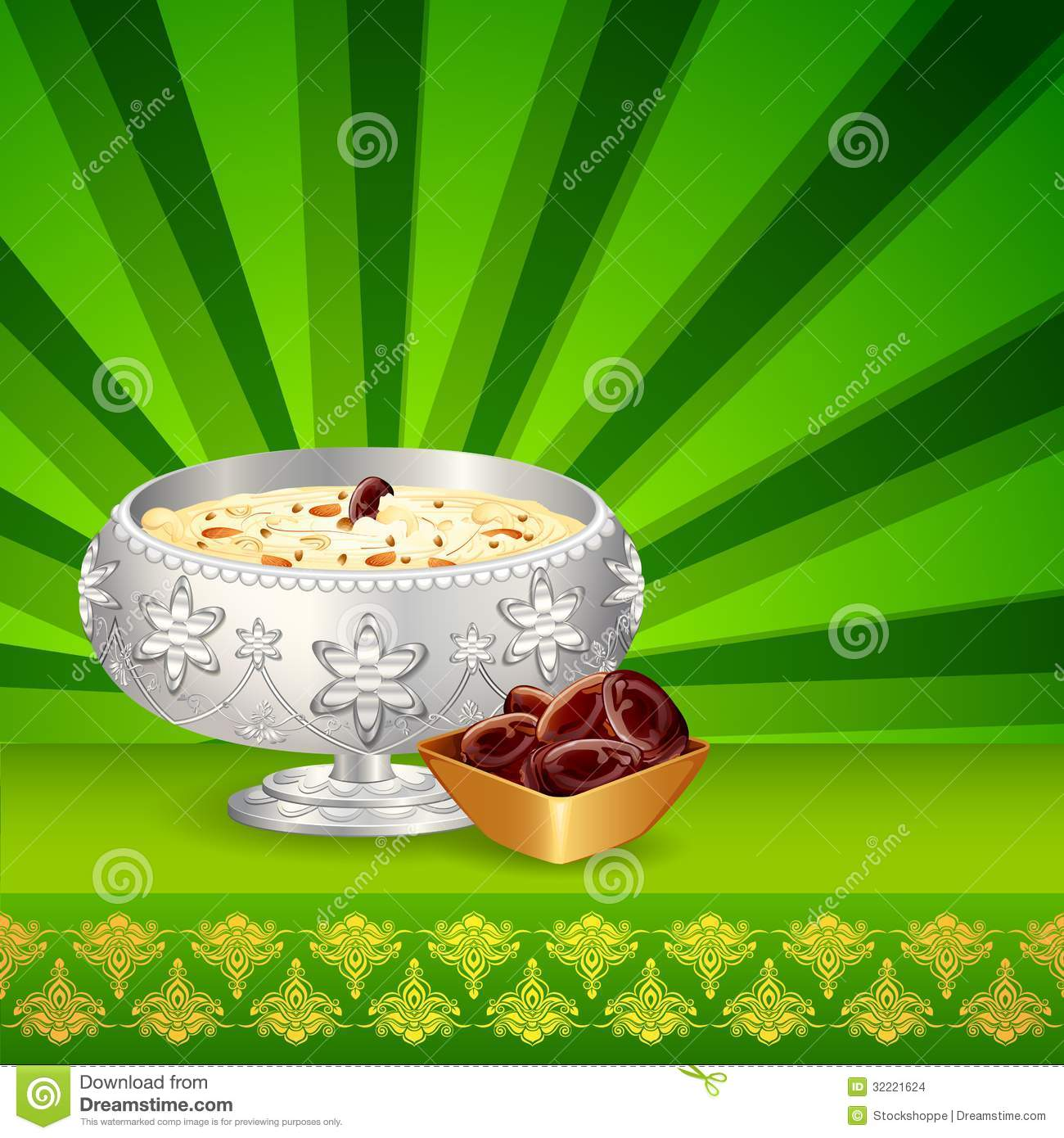 Sweet Dish For Eid Stock Images.