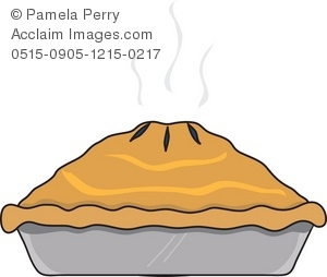 Clip Art Illustration of a Deep Dish Pie.