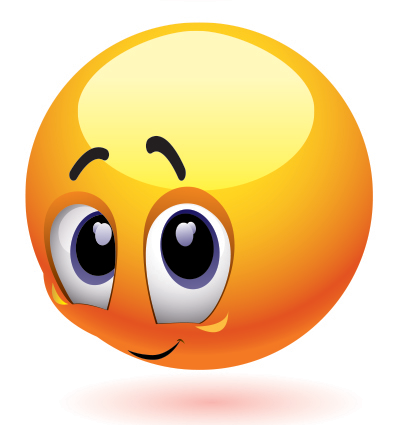 Shy Face Clipart.