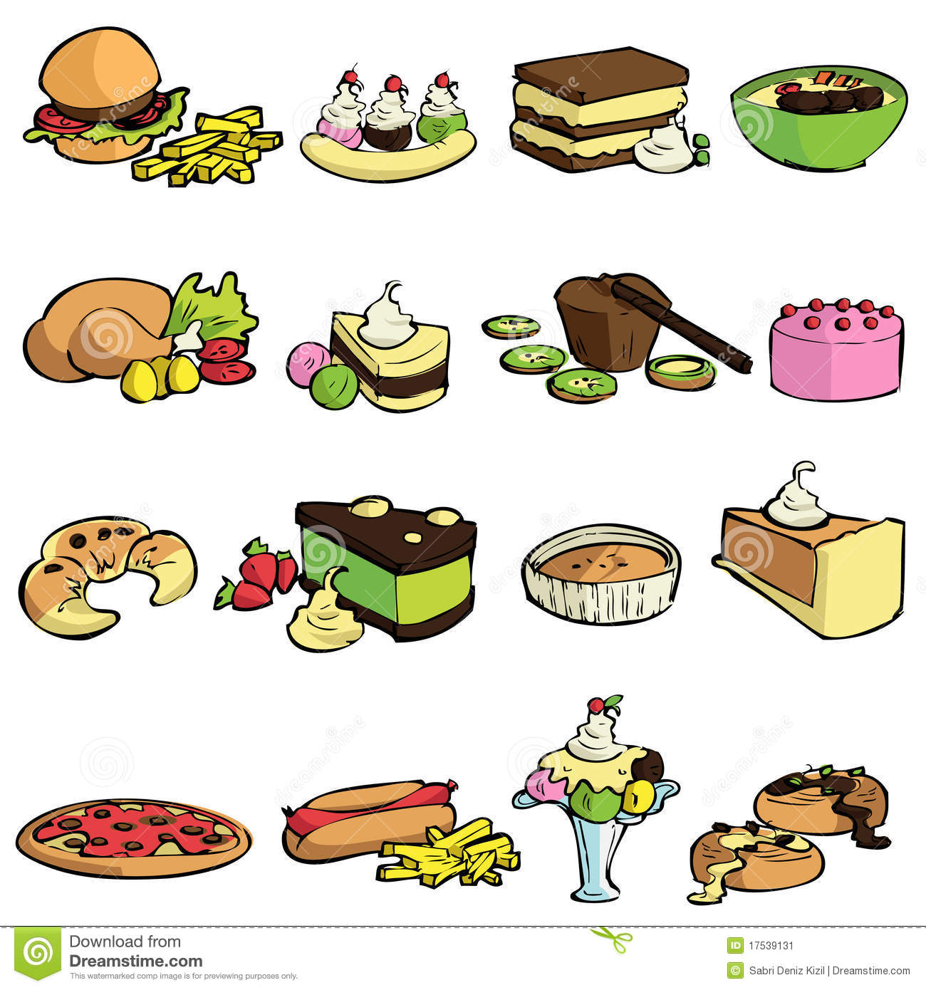 Clipart sugary food.