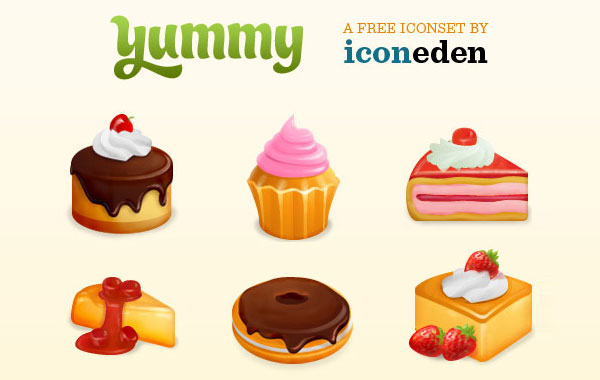 Sweet foods clipart.