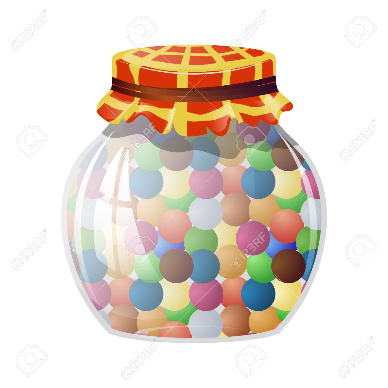 Sweets In A Jar Clipart.