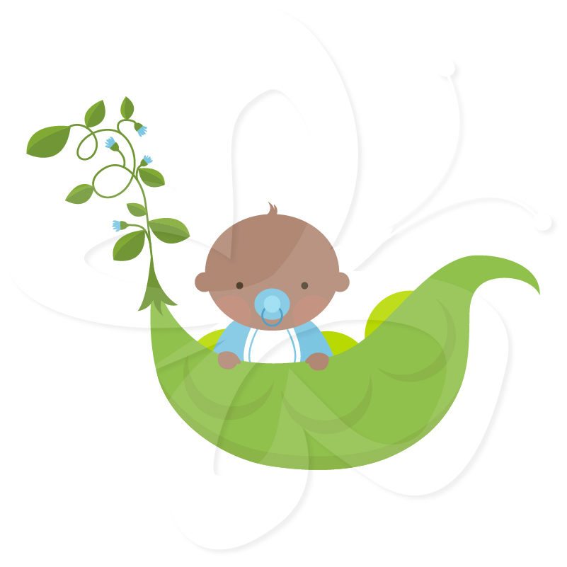 Sweet Pea Baby Clip Art.