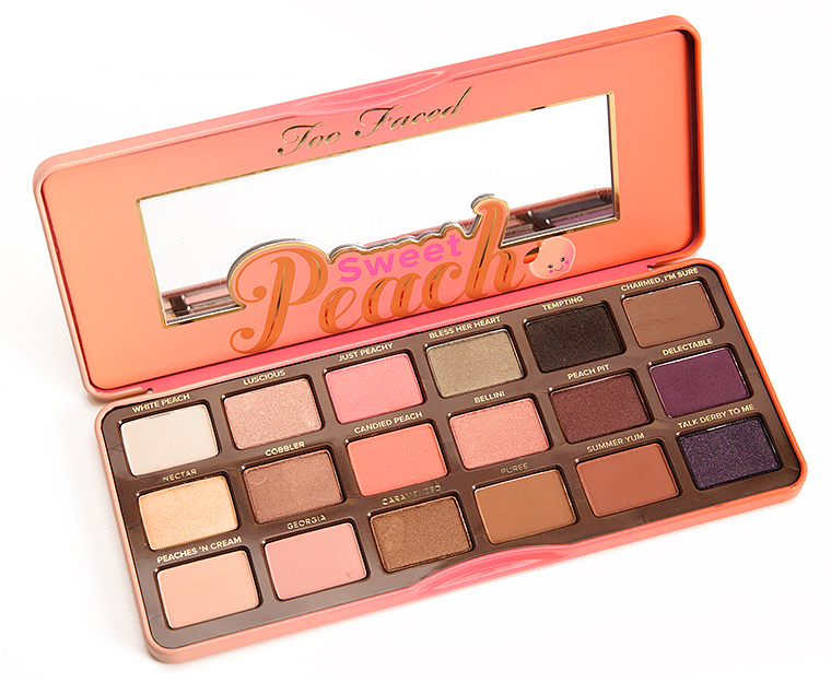 Too Faced Sweet Peach Eyeshadow Palette Review, Photos, Swatches.