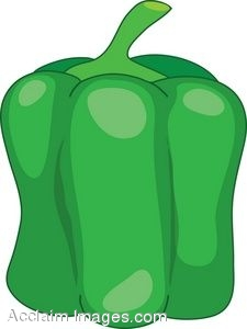 Clipart Illustration of A Green Bell Pepper.