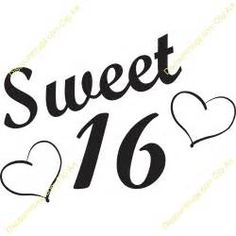 Sweet sixteen clipart 1 » Clipart Station.