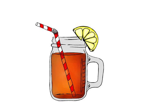 Iced tea clipart mason jar.