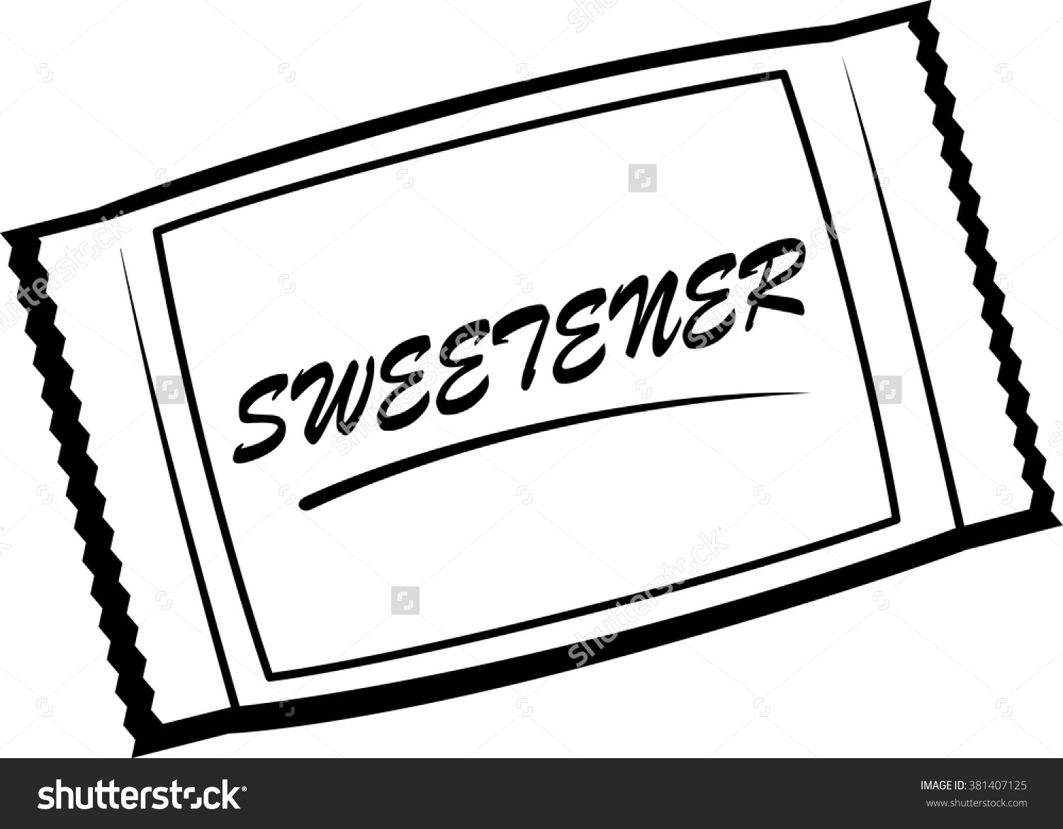 Artificial Sweetener Packet Stock Vector 381407125.