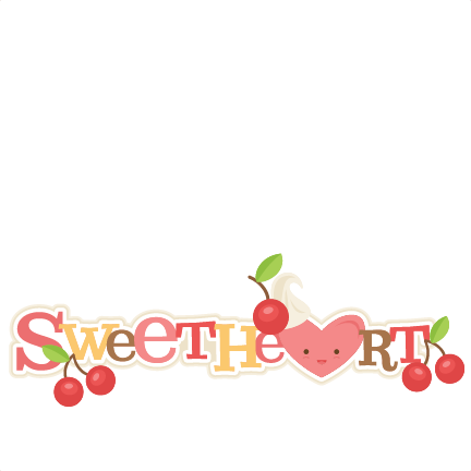 Sweetheart Title SVG scrapbook cut file cute clipart files.