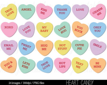 Sweetheart Candy Clipart.