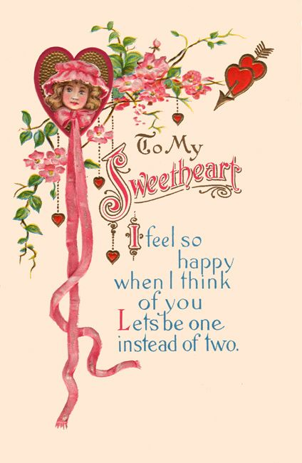 free Vintage Valentine download / clip art~ To my sweetheart ~I.
