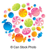 Sweeties Vector Clip Art Illustrations. 421 Sweeties clipart EPS.