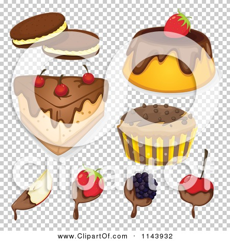Cartoon Of An Assortment Of Sweets And Desserts 1.