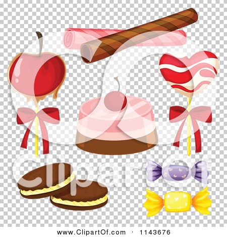 Cartoon Of An Assortment Of Sweets And Desserts 12.