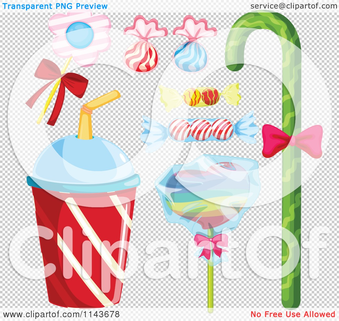 Cartoon Of An Assortment Of Sweets And Desserts 10.