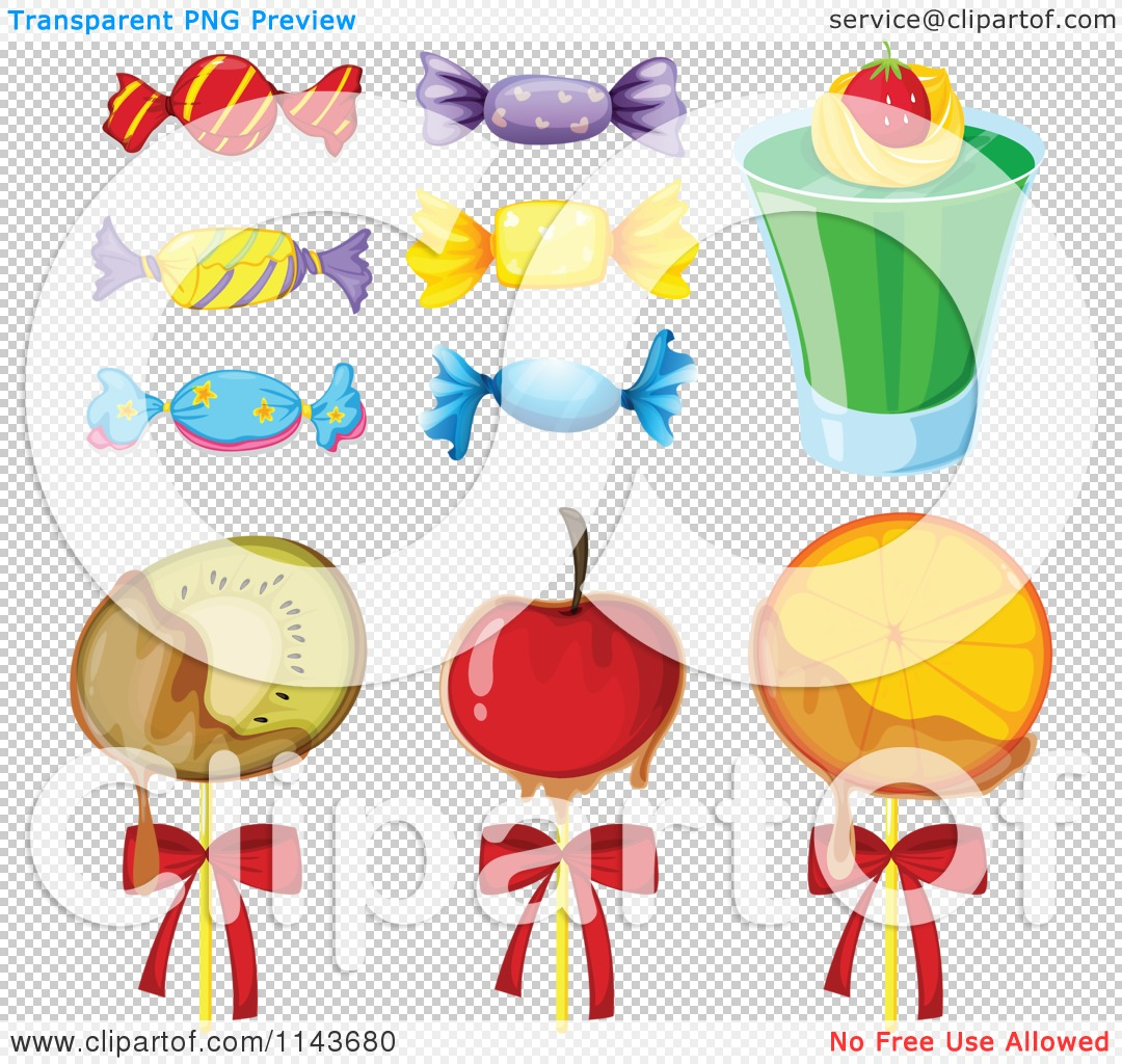 Cartoon Of An Assortment Of Sweets And Desserts 4.
