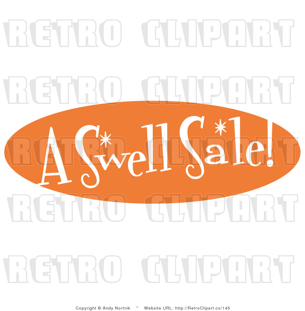 Royalty Free Retro Vector Clip Art of an a Swell Sale Sign by Andy.