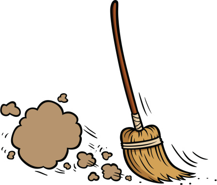 Clipart Broom Sweeping.