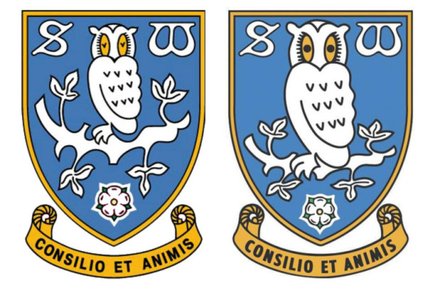 Bright eyes! Sheffield Wednesday make subtle change to their badge.