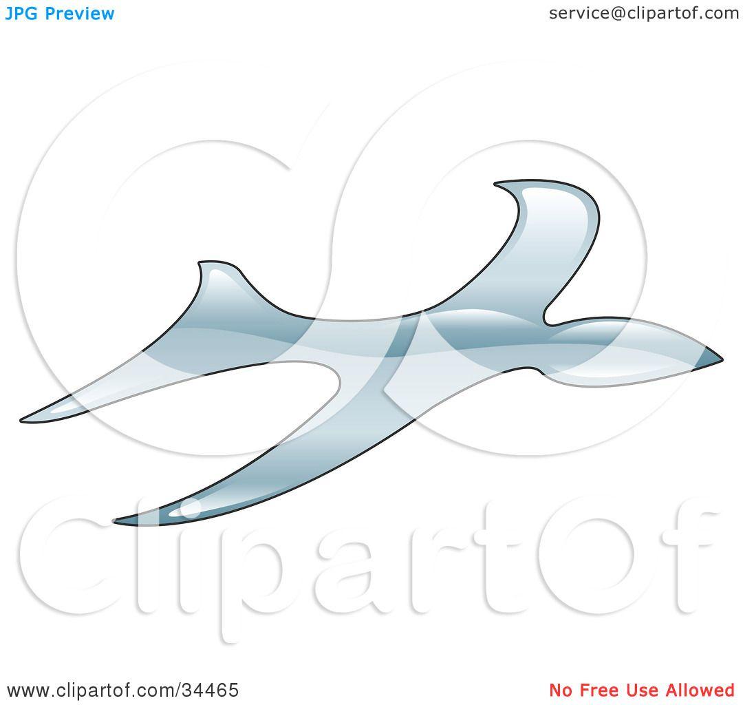 Clipart Illustration of a Swift Bird Flying by AtStockIllustration.