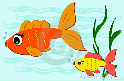 Fish swimming away clipart.