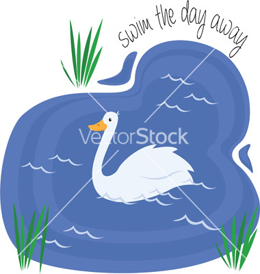 Swim away vector by WindmillDesigns.