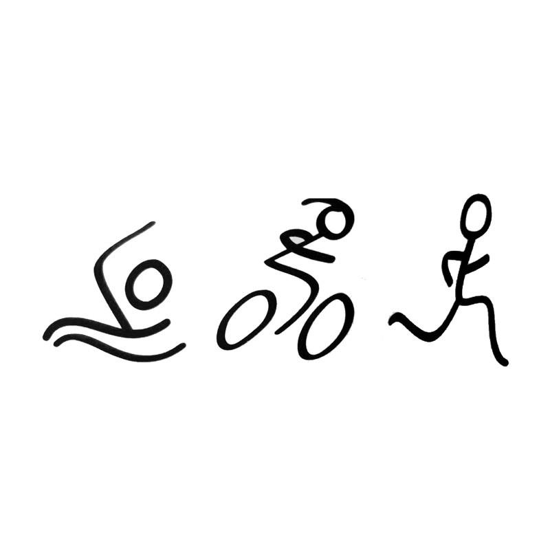 Creative Fashion Simple Triathlon Sticker Swim Bike Run Automotive Styling  Vinyl Decals JDM UK 2019 From Langru1001, GBP ££1.76.