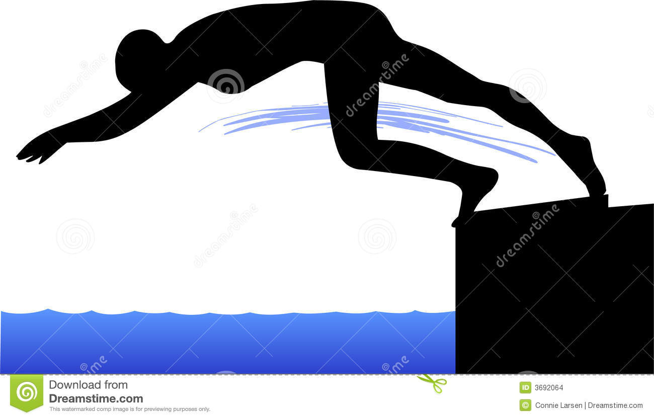 1015 Diving free clipart.