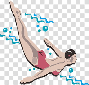 Adobe Illustrator, Fancy swimming transparent background PNG.