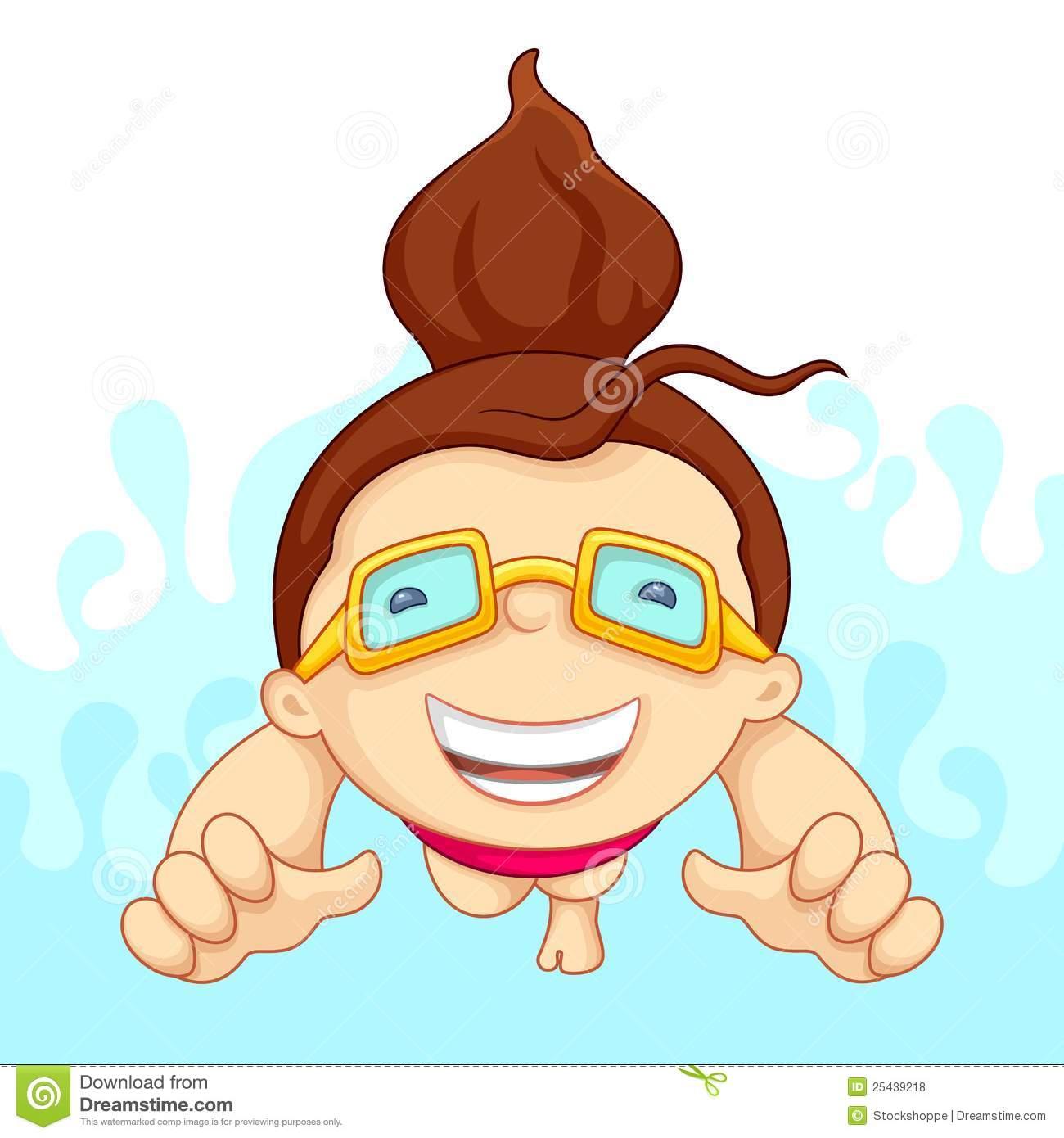 Girl Swim Clipart.