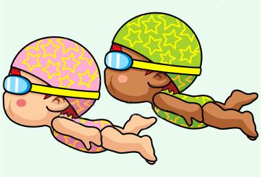 Girl Swim Team Clipart.
