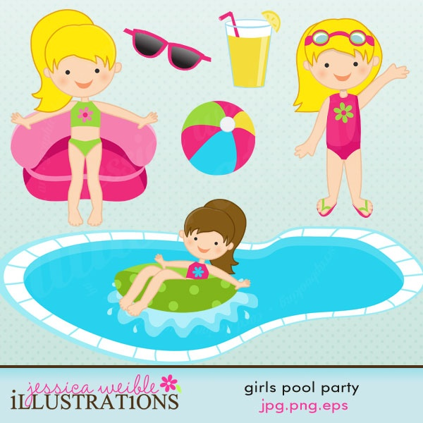 Showing post & media for Cartoon pool party clip art.
