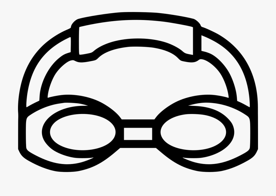 Swimming Goggles Clipart Black And White , Png Download.