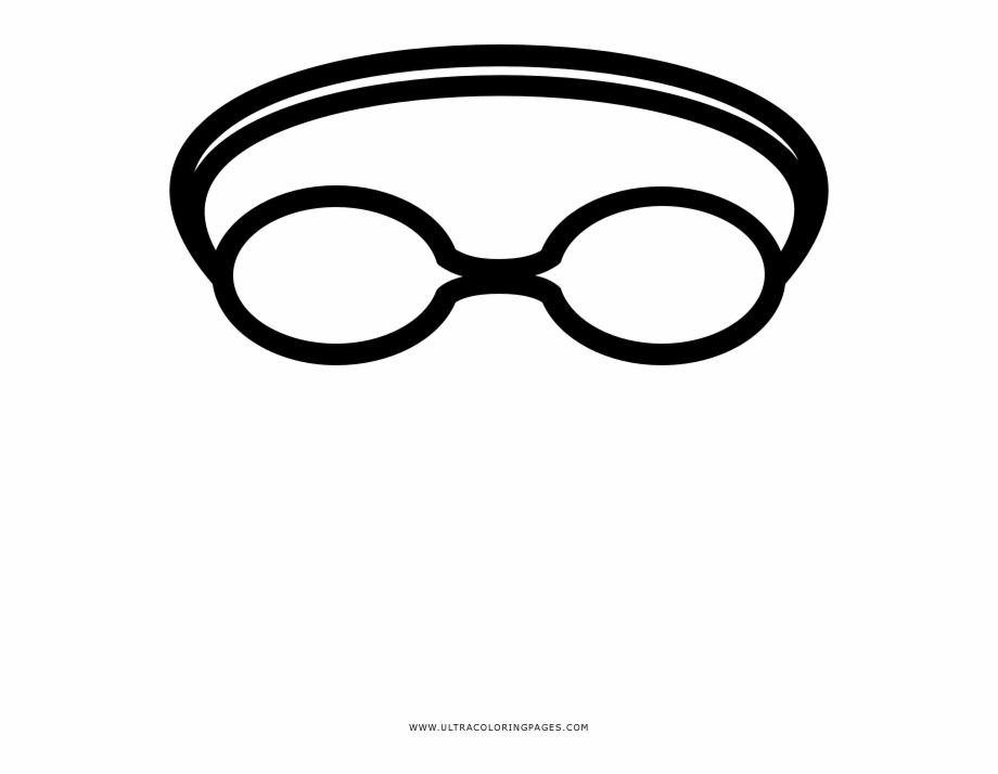Swimming Goggles Coloring Page Draw Swimming Goggles.