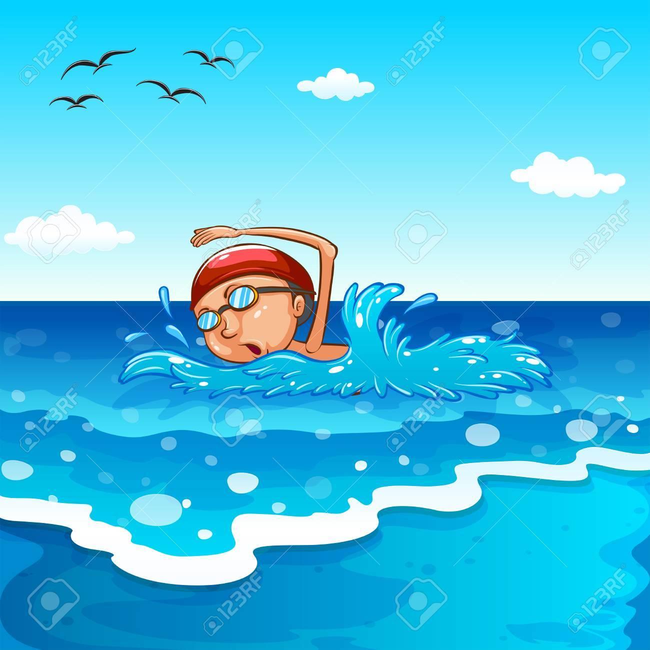 Clipart swimming sea, Clipart swimming sea Transparent FREE.