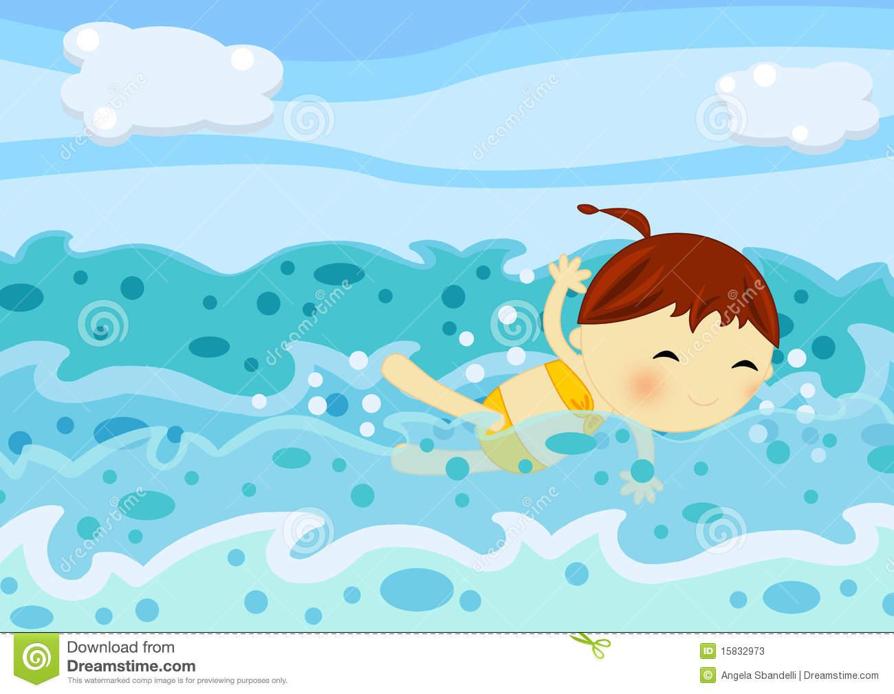 Swim In The Sea Clipart.