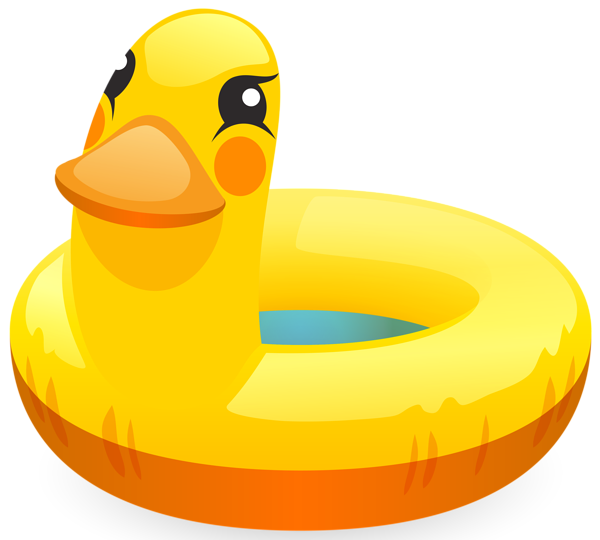 Duck Swimming Ring PNG Clip Art Image.