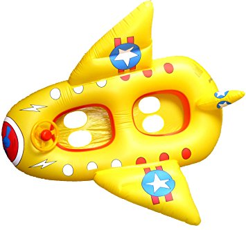 Yellow, Double Jet, Baby Swim Boat/swim seat for 2 kids, with.
