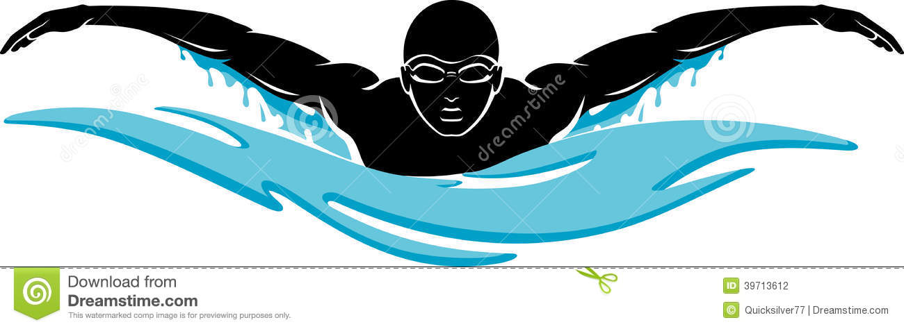 Swimmer Clipart Black And White.