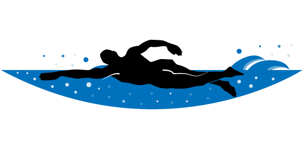 Swimmer Vector Clip Art.