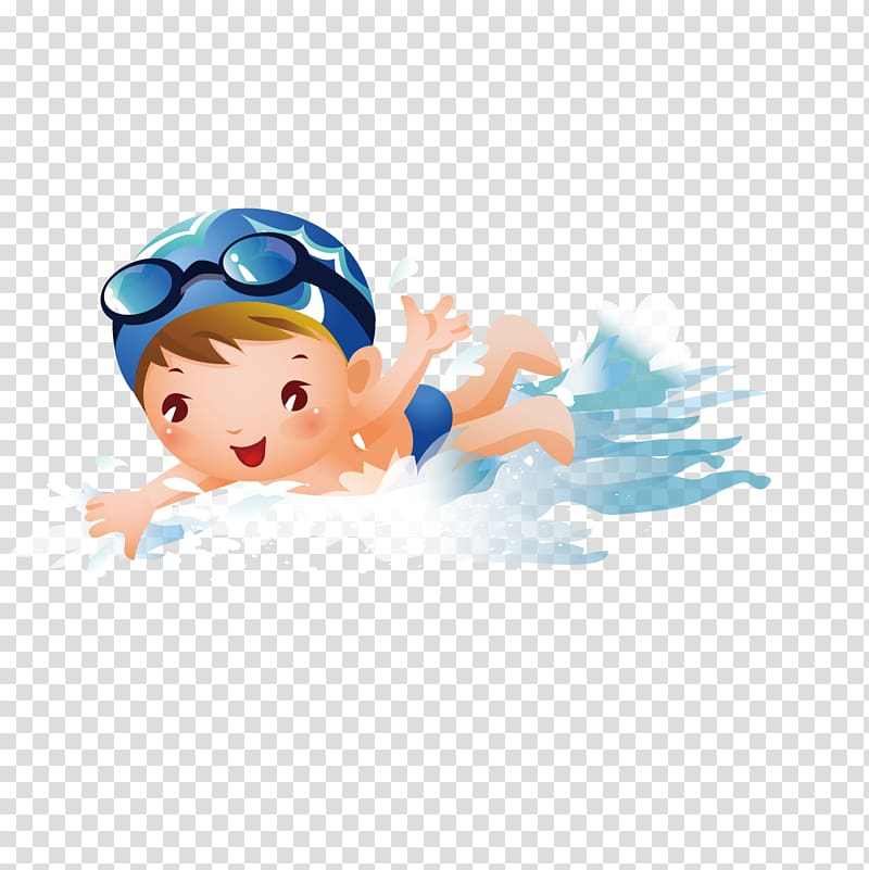 Male swimmer illustration, Swimming pool Boy , Swim boy.